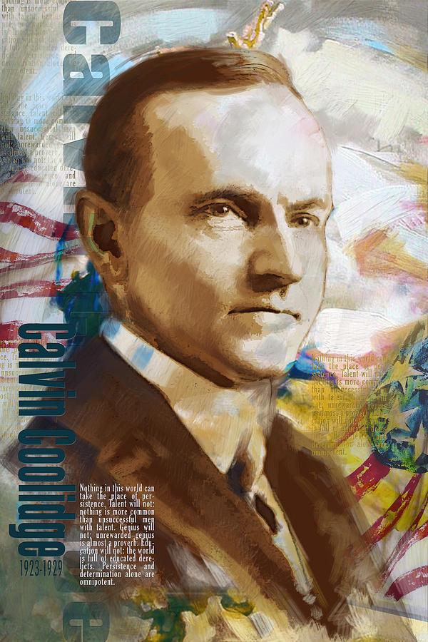 Calvin Coolidge Painting