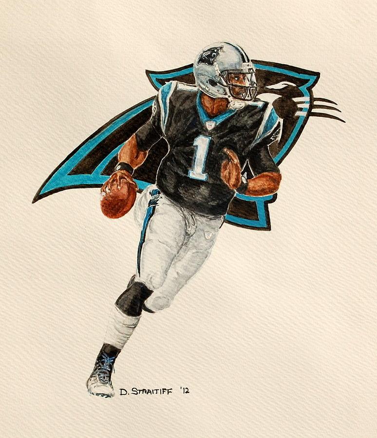 Cam Newton Carolina Panthers Painting By David Straitiff