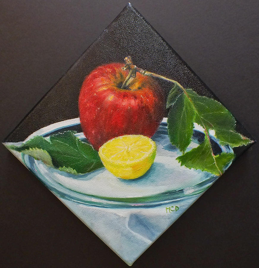 Still Life Painting - Camano Apple by Marie-Claire Dole