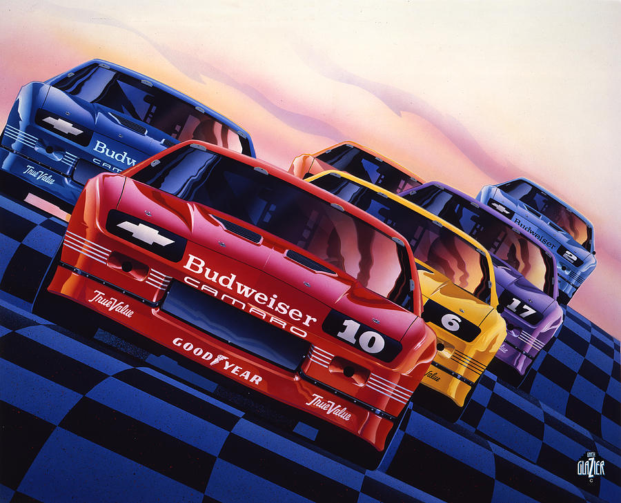 Camaro 1990 Iroc Poster Art Painting By Garth Glazier