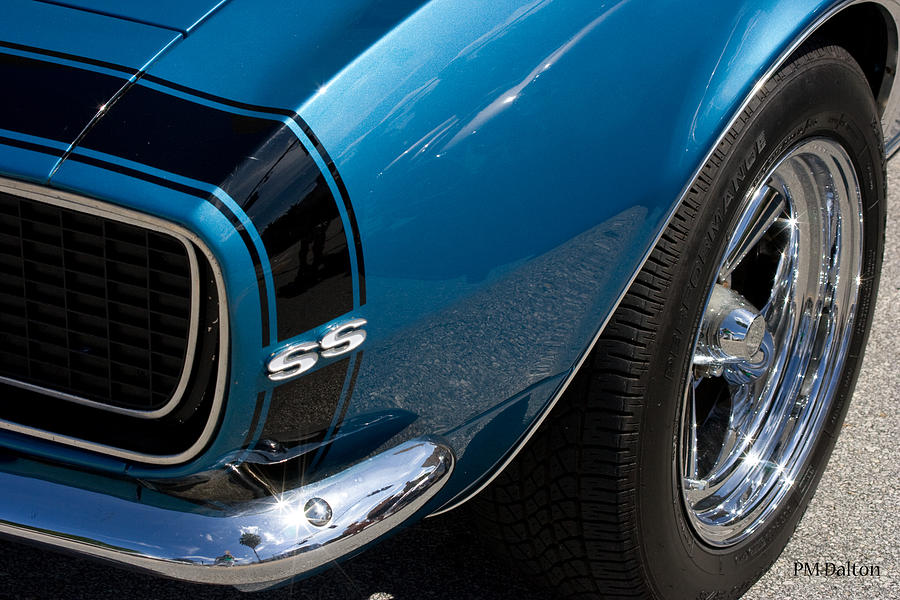 Camaro Photograph - Camaro In Blue by Paulette Moran Dalton