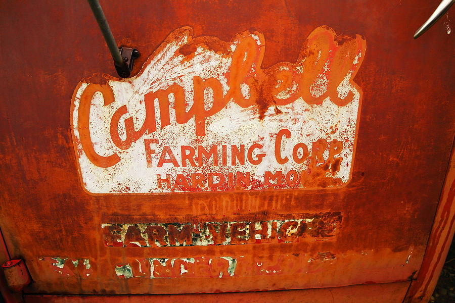 Signs Photograph - Cambell Farming Corperation Hardin Montana by Jeff Swan