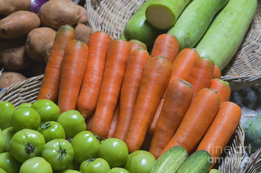 Tomato Photograph - Cambodian Carrots by Craig Lovell