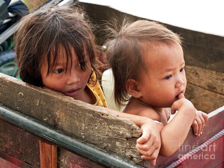 Cambodia Photograph - Cambodian Children 03 by Rick Piper Photography