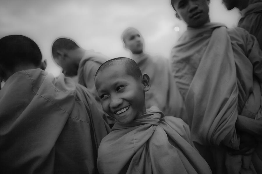 Southeast Asia Photograph - Cambodian Novice Smiles by David Longstreath