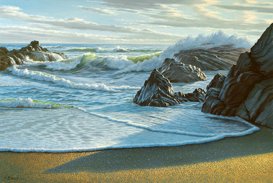 Seascape Painting - Cambria Seascape  by Paul Krapf