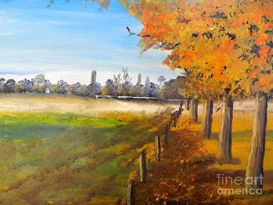 Impressionist Painting - Camden Farm by Pamela  Meredith