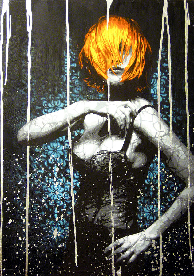 Goth Painting - Came Back Haunted by Bobby Zeik