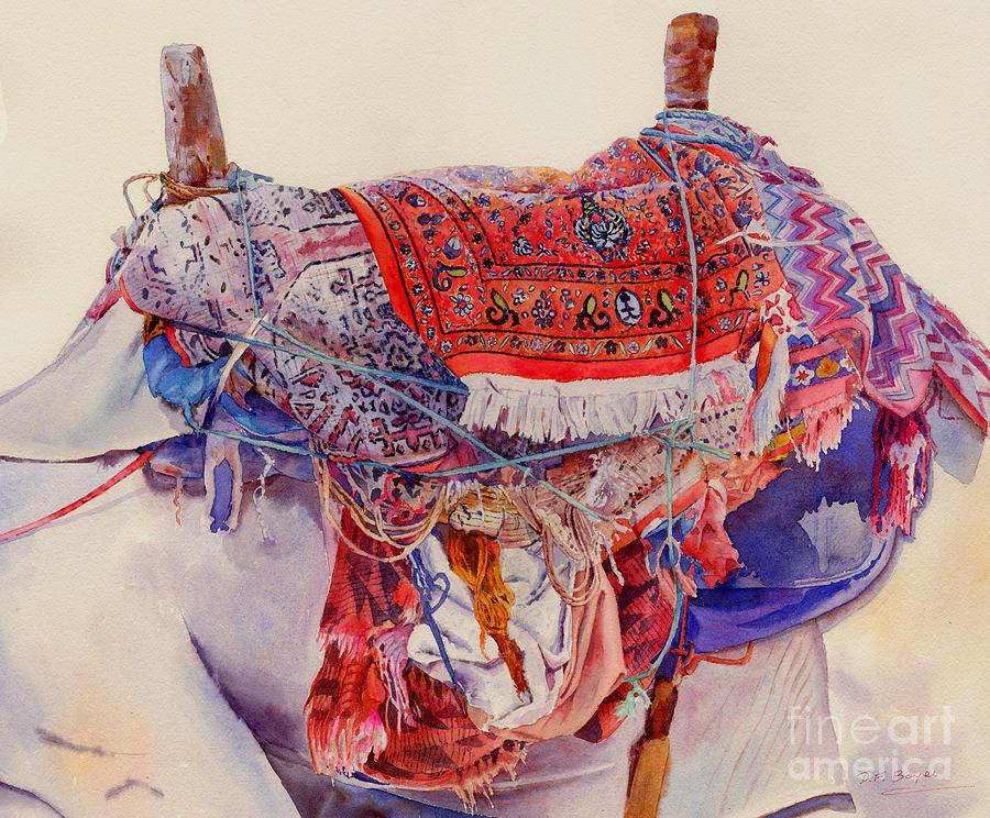 Camel Painting - Camel Saddle by Dorothy Boyer