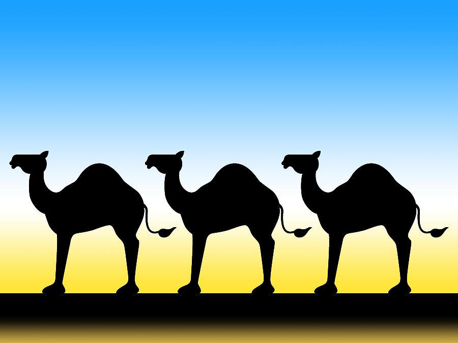 Camel Train Digital Art By Alison Stein