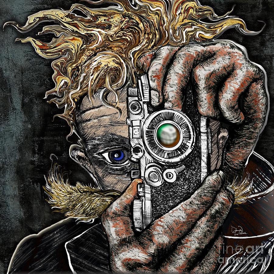 Camera Drawing - Camera Eye by Doug LaRue