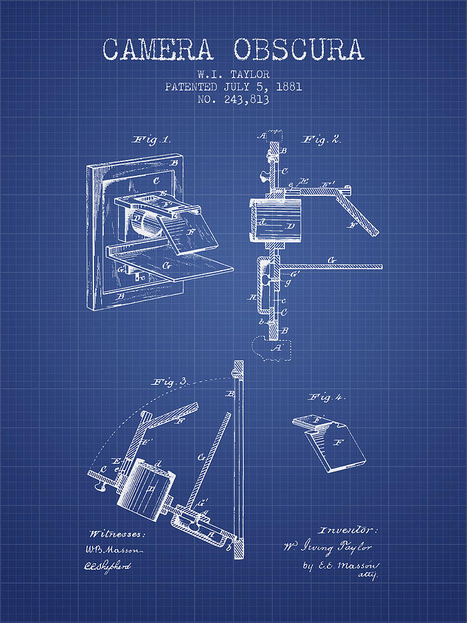 Camera obscura patent from 1881 blueprint digital art by aged pixel camera digital art camera obscura patent from 1881 blueprint by aged pixel malvernweather Images