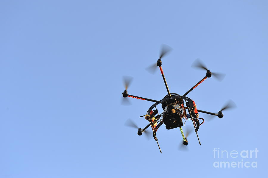 Motion Photograph - Camera On Unmanned Aerial Vehicle by Sami Sarkis