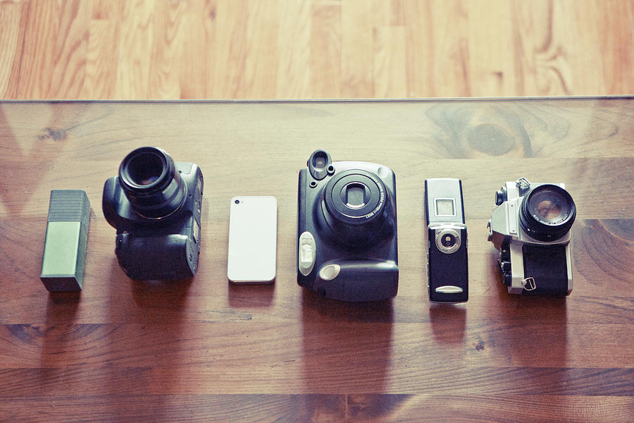 Cameras From All Eras In A Row Photograph by William Andrew