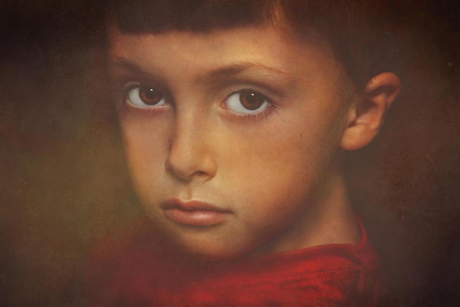 Children Photograph - Cameron 11-27-14 by Pat Abbott