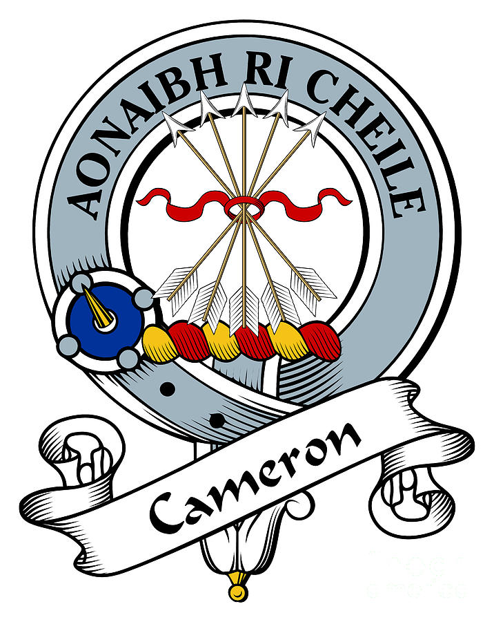 Clan Drawing - Cameron Clan Badge by Heraldry