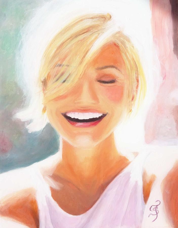 Cameron Diaz Painting - Cameron Diaz by Shirl Theis