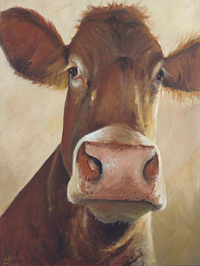Cow Painting - Camile by Cari Humphry