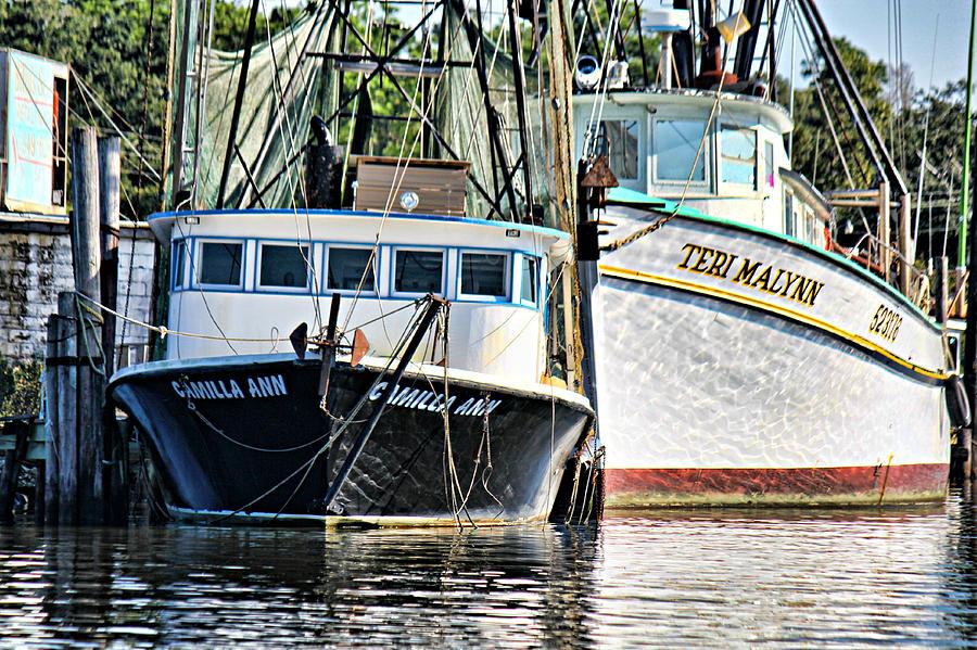 Shrimp Boat Photograph - Camilla Ann And Teri Malynn by Lynn Jordan