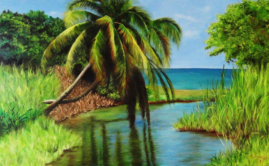 Beach Painting - Camino Del Agua by Migdalia Bahamundi