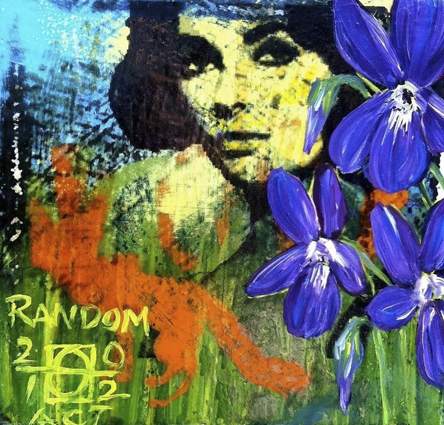 Violets Mixed Media - Camouflage Fox by Andrea LaHue aka Random Act