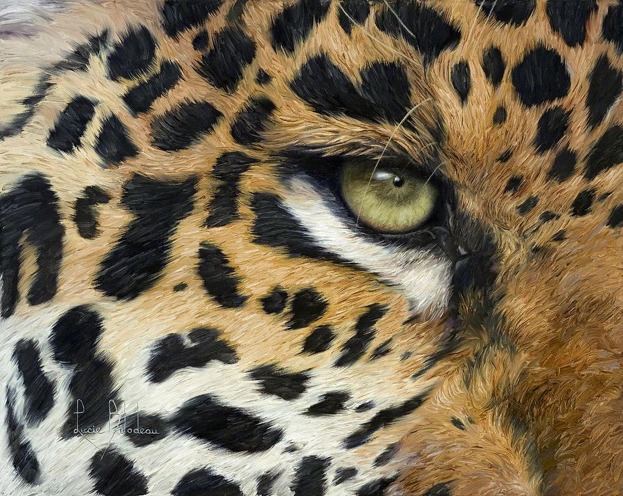 Jaguar Painting - Camouflage by Lucie Bilodeau