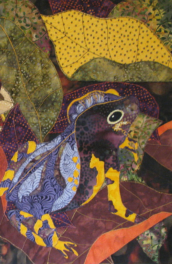 Nature Tapestries Textiles Tapestry - Textile - Camouflaged Forest Toad by Lynda K Boardman