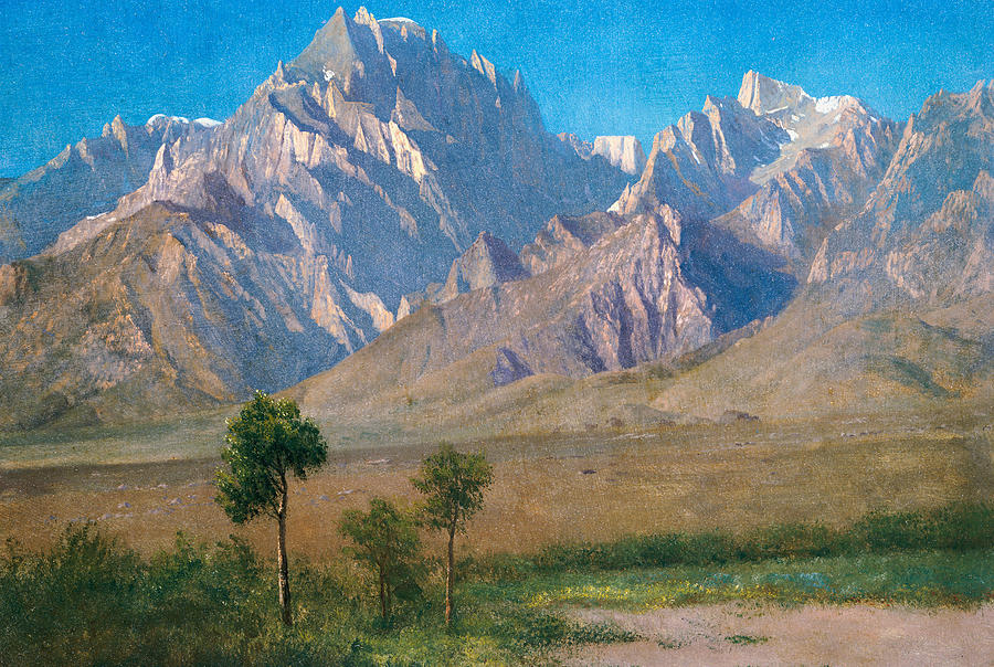 American Landscape Painting - Camp Independence Colorado by Albert Bierstadt
