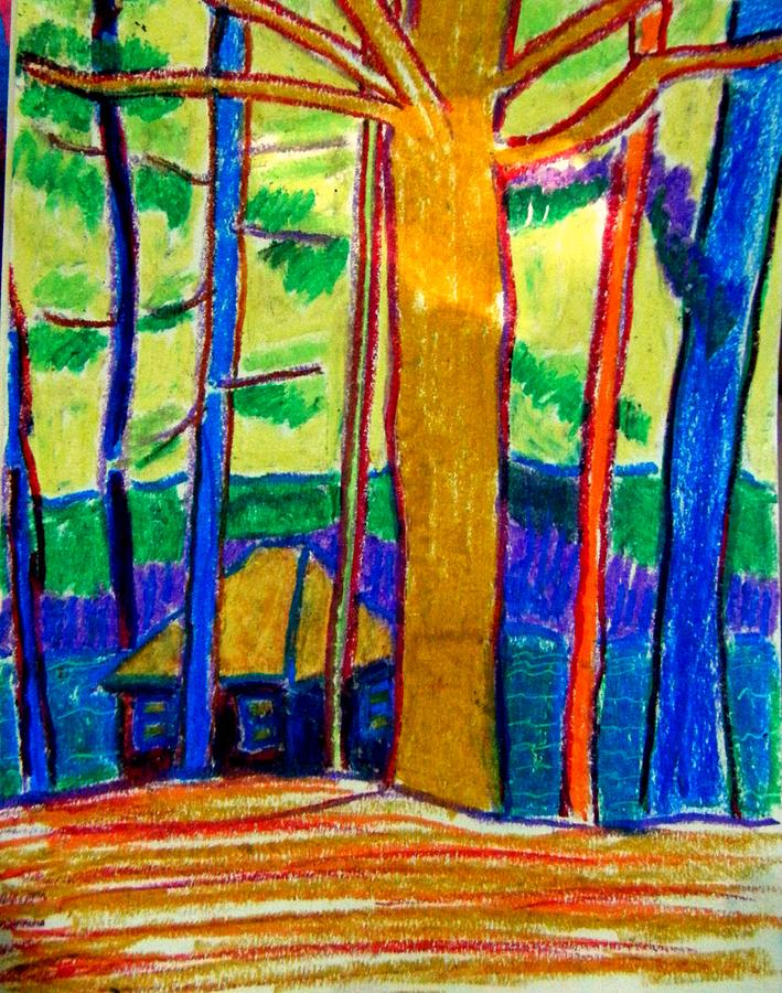 Camp Painting - Camp Massapoag Sketch by Debra Bretton Robinson