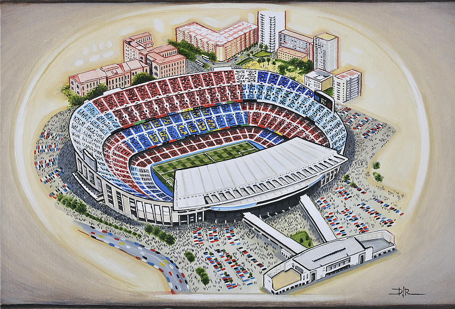 Camp Nou Barcelona Fc Painting By D J Rogers