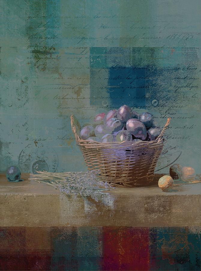 Turquoise Photograph - Campagnard - Rustic Still Life - J085079161f by Variance Collections