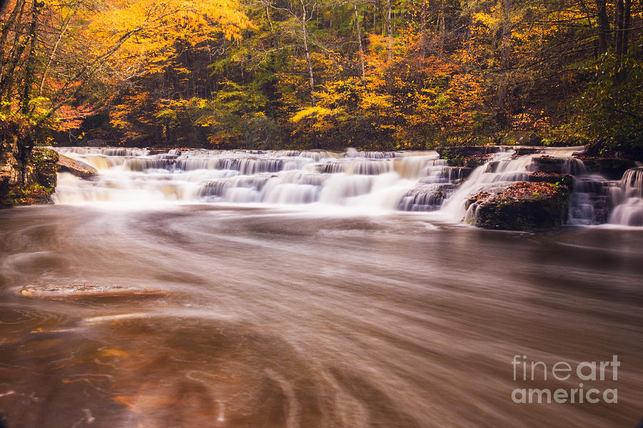 Waterfall Photograph - Campbell Falls In Autumn by Melissa Petrey