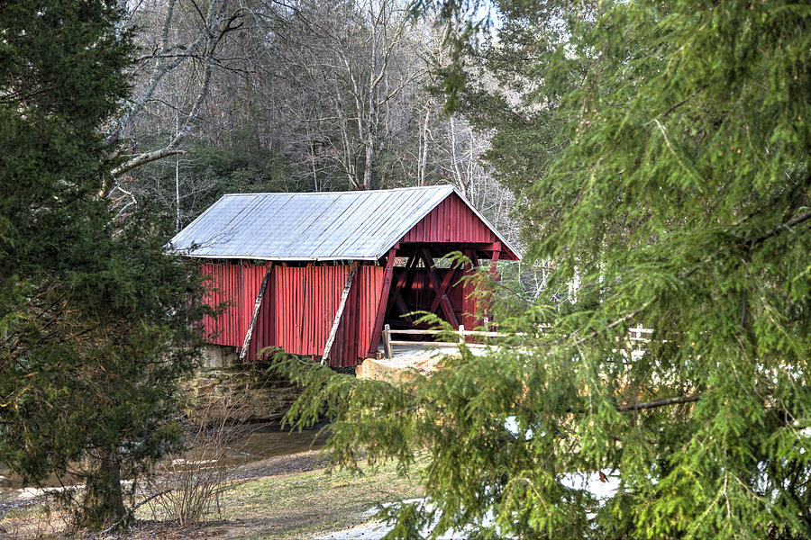 Covered Bridge Photograph - Campbells Covered Bridge-1 by Charles Hite