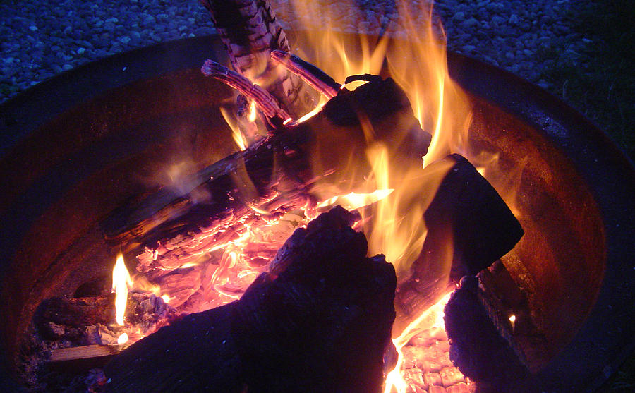 Fire Photograph - Campfire Apparition by Seth Shotwell
