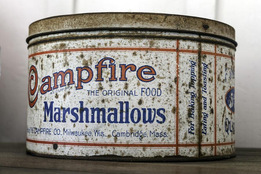 Campfire Photograph - Campfire Marshmallows Tin by Lynn Palmer