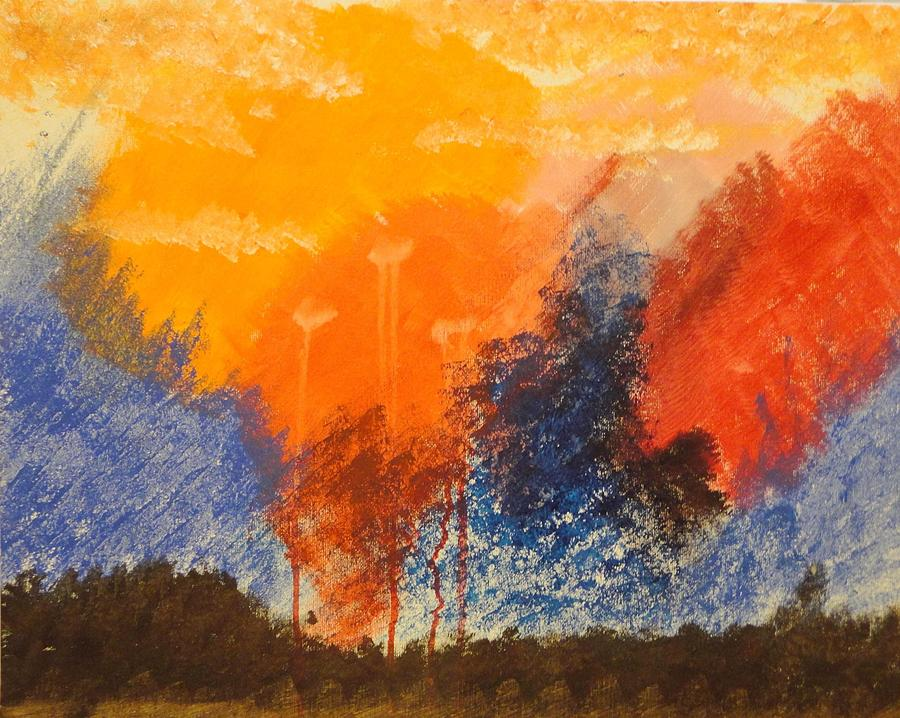 Campfire Painting - Campfire by Valerie Howell