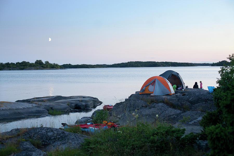 Camping At Coast At Evening Photograph by Johner Images