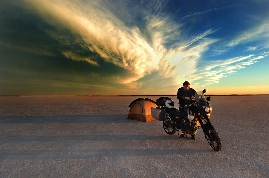 Americas Photograph - Camping On The Bonneville Salt Flatsrlb0091 by Ron Brown Photography