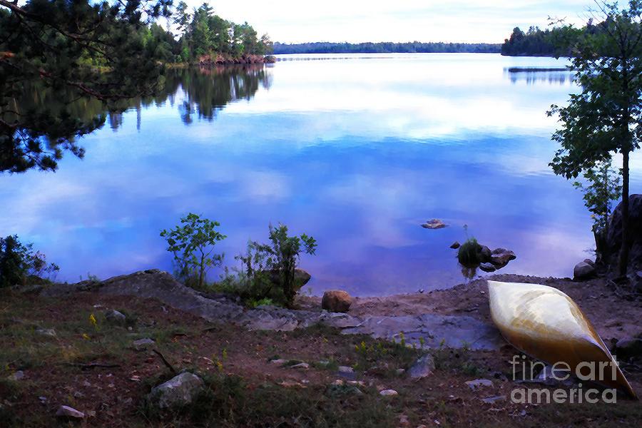Canoe Photograph - Campsite Serenity by Thomas R Fletcher