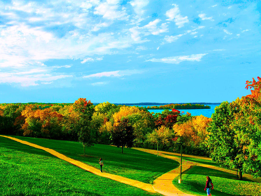 Campus Fall Colors by Zafer Gurel