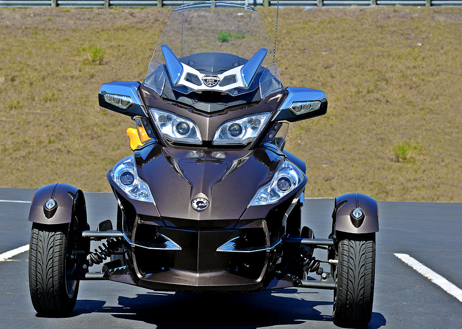 Roadster Photograph - Can-am Spyder - The Spyder Five by Christine Till