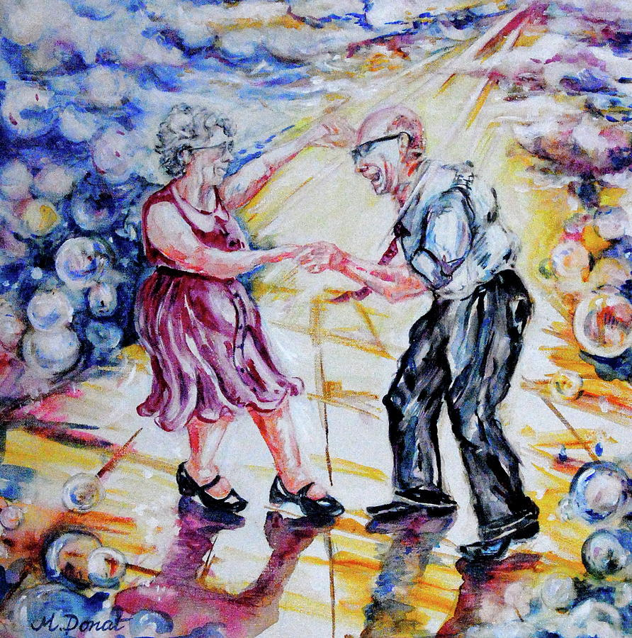 Dancing Couple Painting - Can I Have This Dance For The Rest Of My Life by Margaret Donat