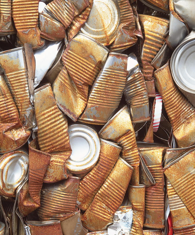 Cans Photograph - Can Recycling by Martin Bond/science Photo Library