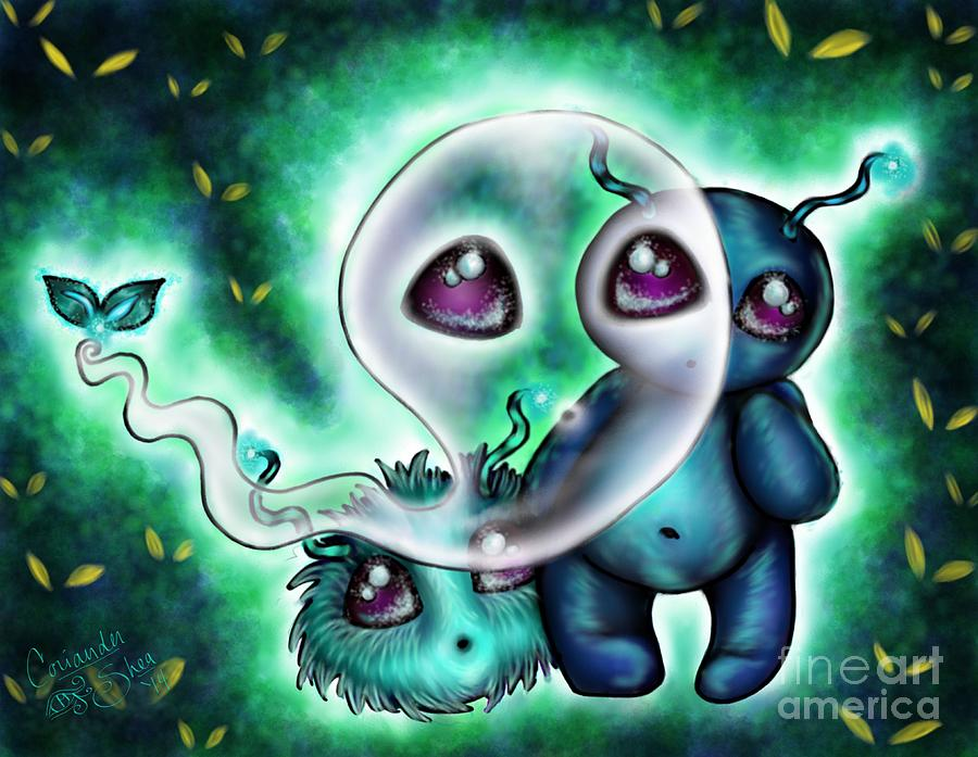 Halloween Digital Art - Can They See Us? by Coriander  Shea