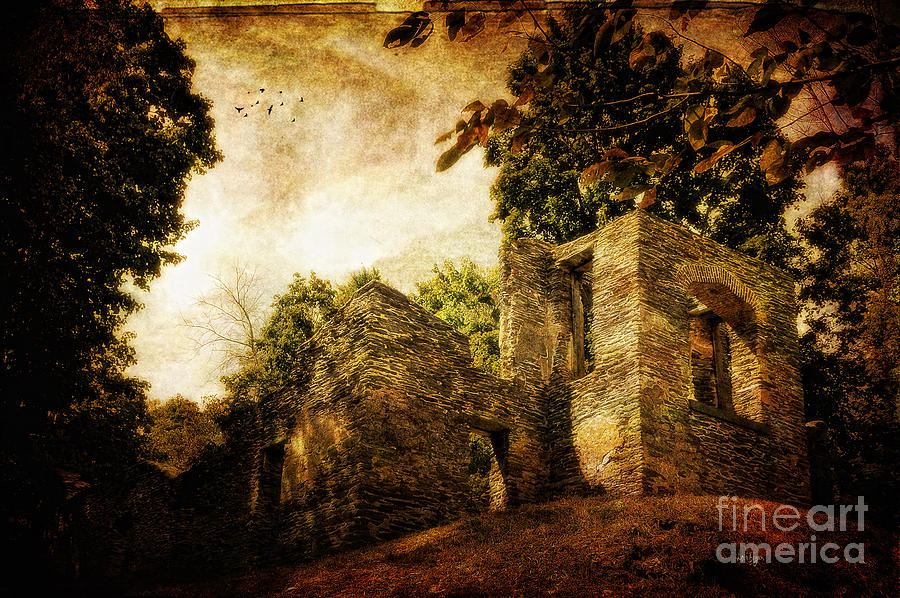 Ruin Photograph - Can You Hear Them by Lois Bryan