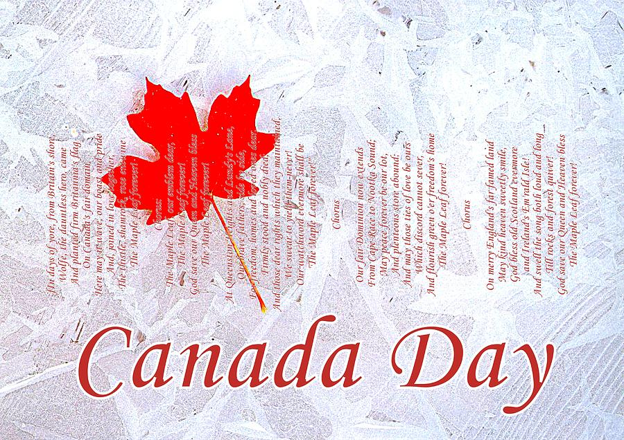 Canada Photograph - Canada Day .. The Maple Leaf Forever by The Creative Minds Art and Photography