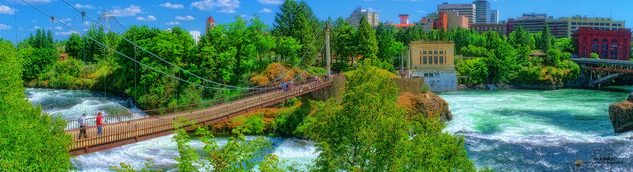 Spokane Photograph - Canada Island Bridge by Dan Quam