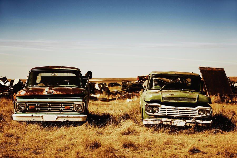 Canada, Junk Yard With Old Us Cars Photograph by Westend61