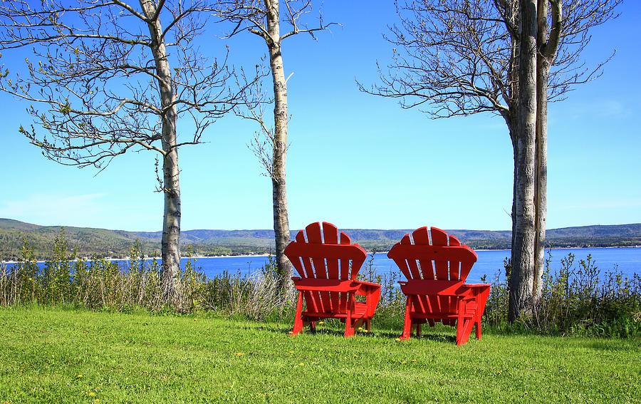 Adirondack Chair Photograph - Canada, Nova Scotia, Adirondack Chairs by Patrick J. Wall