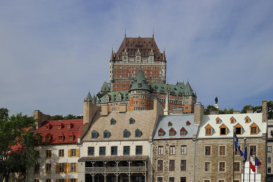 Tranquility Photograph - Canada, Quebec City, Chateau Frontenac by Buena Vista Images